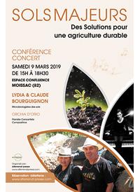 Conférence-Concert -SOLS MAJEURS Des Solutions pour une agriculture durable
